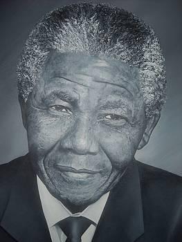 NELSON MANDELA Painting by Charlton Nicholas