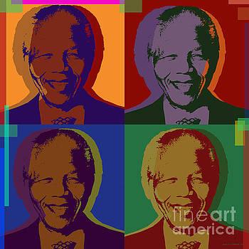Nelson Mandela Pop Art by Jean luc Comperat