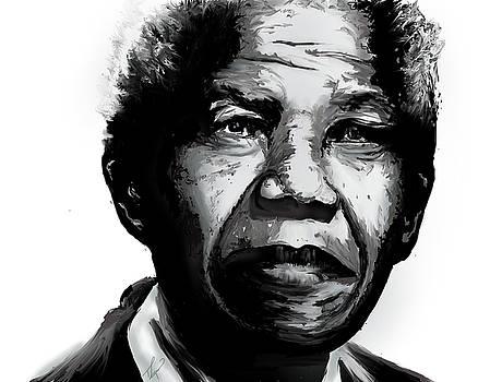 Nelson Mandela by Tiffany Lynn Thielke