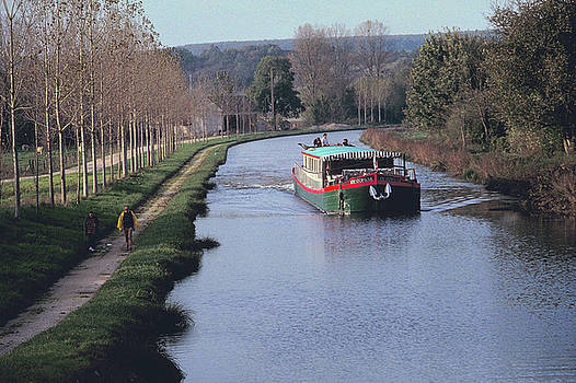 Nenuphar Barge at Burgundy in France 2 by Carl Purcell