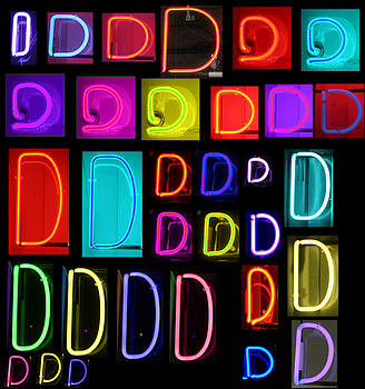 Michael Ledray - Neon alphabet series letter D