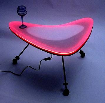 Neon Boomerang Table by Bill Buth