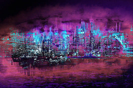 Neon City II by Neil Hemsley