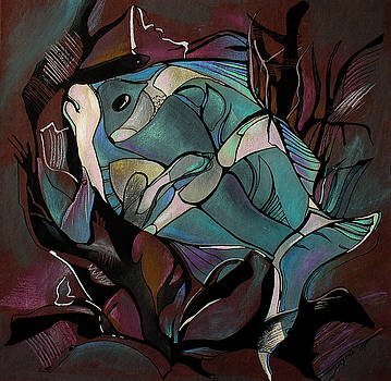 Neon Fish by Deyana Deco