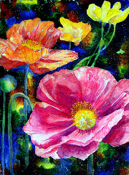 Neon poppies by Mary Giacomini