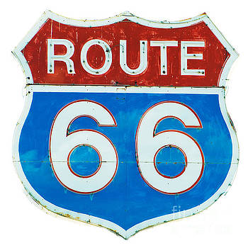Neon Route 66 Sign by MaryJane Armstrong