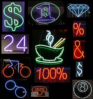 Michael Ledray - Neon Sign series of various symbols