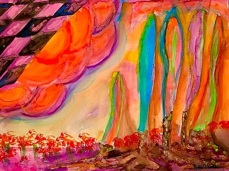 Neon Surreal Place  by Dottie Phelps Visker
