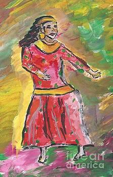 Nepali Dancer by Elizabeth Briggs
