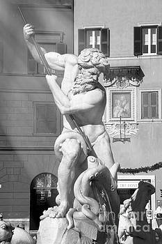 Neptune vs Octopus - Piazza Navona In Rome by Stefano Senise