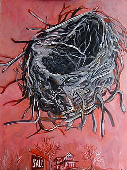 Nest above house by Tilly Strauss
