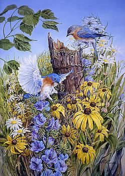 Nesting Bluebirds by RoseMarie Condon