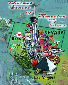 Nevada Fun Map by Kevin Middleton