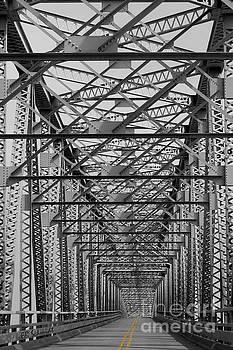 Never Ending Bridge black and white by E B Schmidt