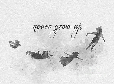 Never Grow Up Black and White by My Inspiration