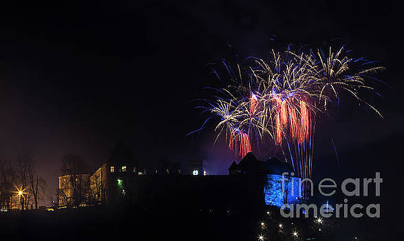 Vyacheslav Isaev - New 2017 year fireworks over Ljubljana Castle