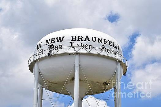 New Braunfels Texas Water Tower by Ray Shrewsberry