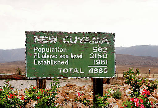 Art Block Collections - New Cuyama Sign