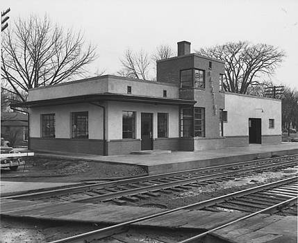 Chicago and North Western Historical Society - New Depot in Palatine Illinois - 1950