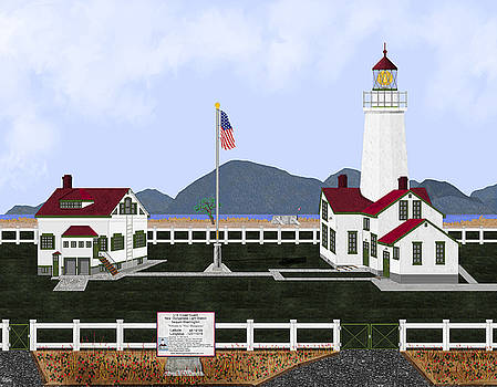 New Dungeness Lighthouse at Sequim Washington by Anne Norskog