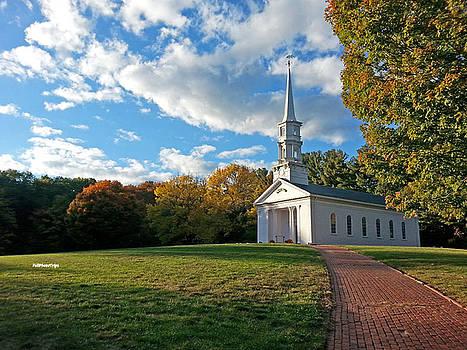 New England Church by April Bielefeldt