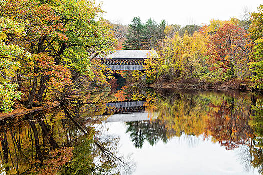 New England Covered Bridge No.63 by Betty Pauwels
