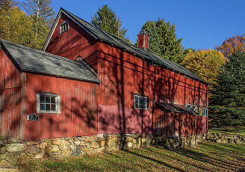 New England Historic Barn in Autumn in the Litchfield Hills by Skyelyte Photography by Linda Rasch