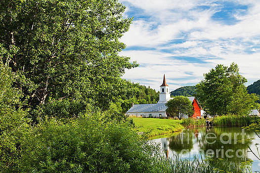 New England Idyllic Summer by Alan L Graham