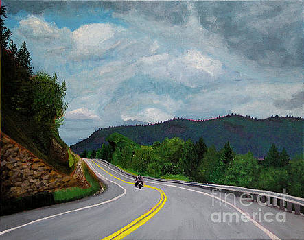 New England Journeys - Motorcycle 1 by Marina McLain