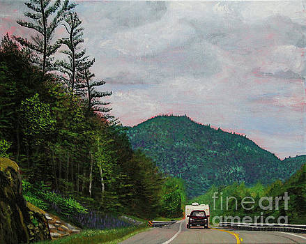 New England Journeys - Truck with Trailer by Marina McLain