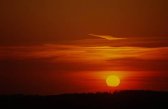 New England Sunset by John Clark