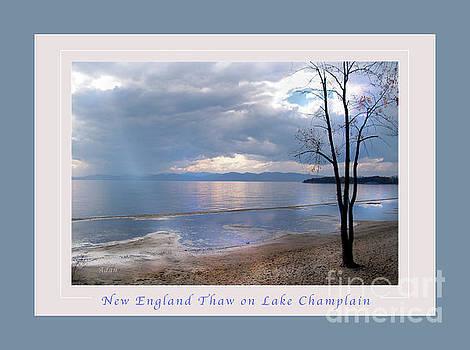 Felipe Adan Lerma - New England Thaw on Lake Champlain Greeting Card Poster