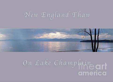 Felipe Adan Lerma - New England Thaw on Lake Champlain Horizon Line Greeting Card Poster