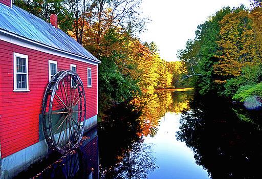 New England Water Wheel 001 by George Bostian