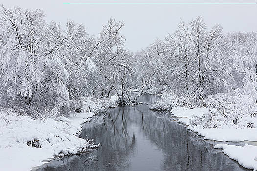 New England Winter at the Westborough Assabet River  by Juergen Roth