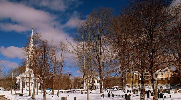 New England  Winter Scene by Lennie Malvone