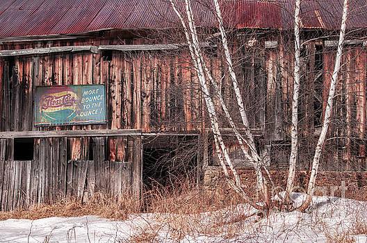 Vintage Winter Barn by Thomas Schoeller