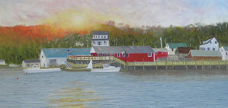 New Harbor Sunset by Scott W White