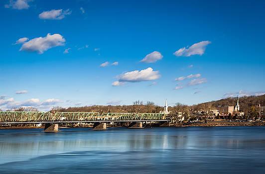 New Hope Lambertville Bridge by David Oakill