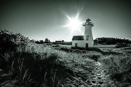 New London Light Behind Dunes by Chris Bordeleau