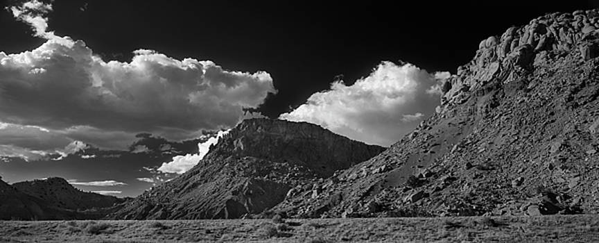 New Mexico Landscape B W by Steve Gadomski
