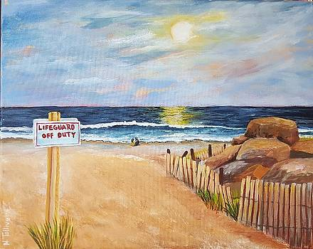 New Moon Over Ocean Grove by Norma Tolliver