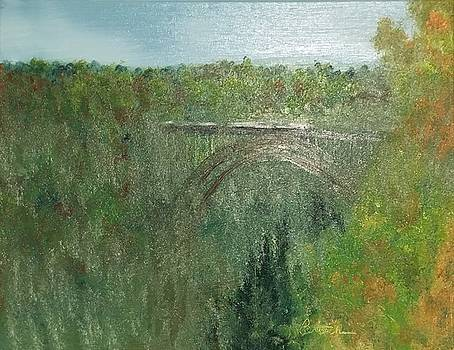 New New River Gorge Painting 1 by David Bartsch