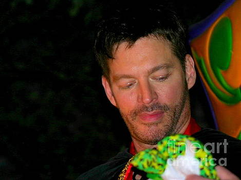 New Orleans Actor Harry Connick Jr In Orpheus Parade Lundi Gras by Michael Hoard