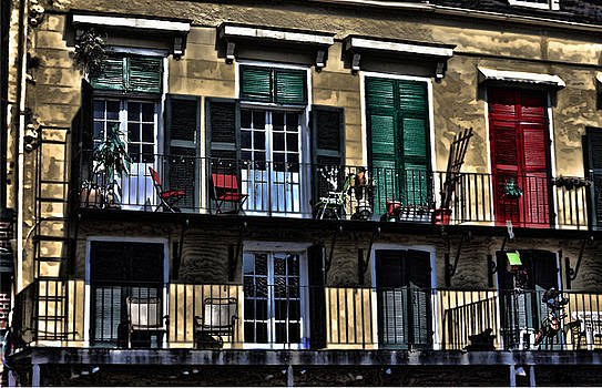 New Orleans Balcony by Cecil Fuselier