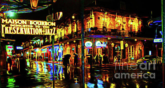 New Orleans Bourbon Street by Jerome Stumphauzer