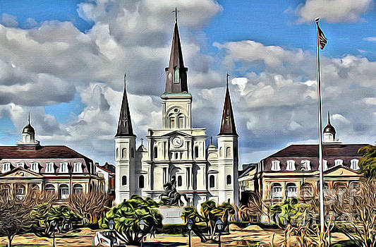 New Orleans Church by Carey Chen