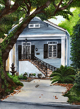 New Orleans Home by Elaine Hodges