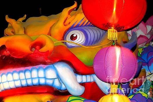 New Orleans Mardi Gras Float Orpheus Lundi Gras by Michael Hoard
