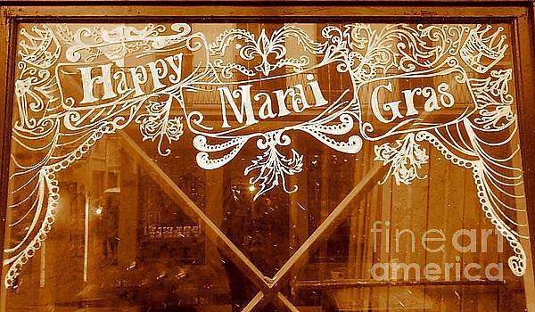 New Orleans Mardi Gras Sign In The French Quarter by Michael Hoard